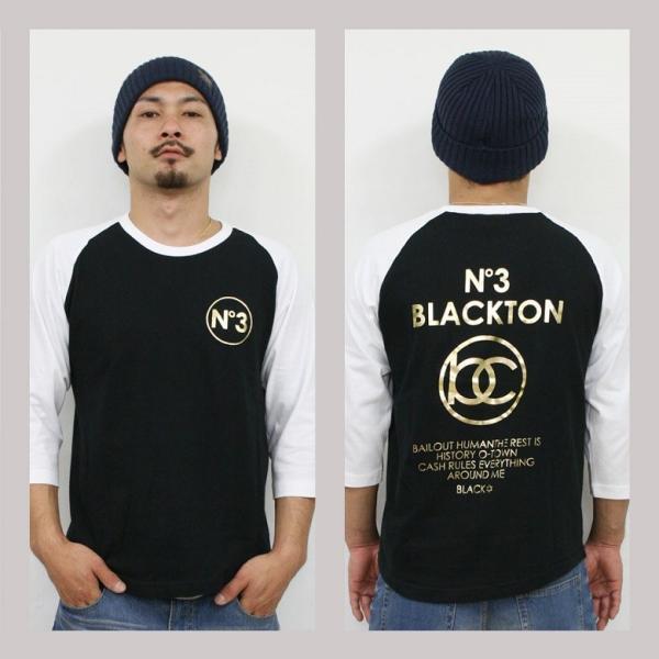 Tシャツ メンズ 7分袖 長袖 ロンT カジュアル ストリート系 ファッション BLACKTON ブラクトン /3045/|attention-store|03