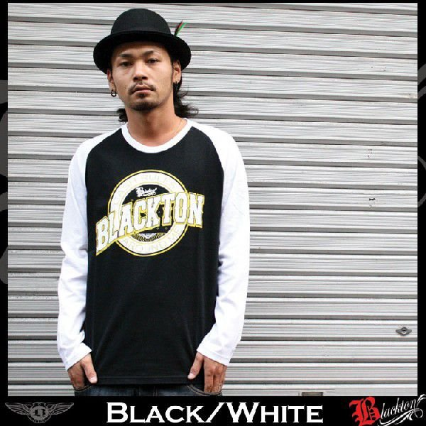 ロンT ストリート ブランド メンズ 長袖 Tシャツ プリント BLACKTON ブラクトン ロゴ 大きいサイズ /3045/|attention-store|03