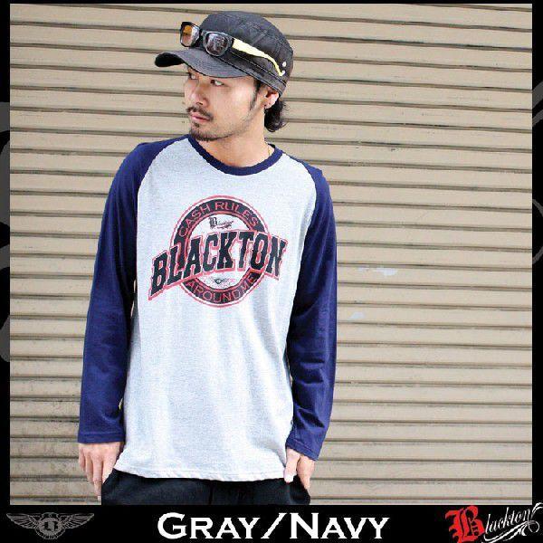 ロンT ストリート ブランド メンズ 長袖 Tシャツ プリント BLACKTON ブラクトン ロゴ 大きいサイズ /3045/|attention-store|04