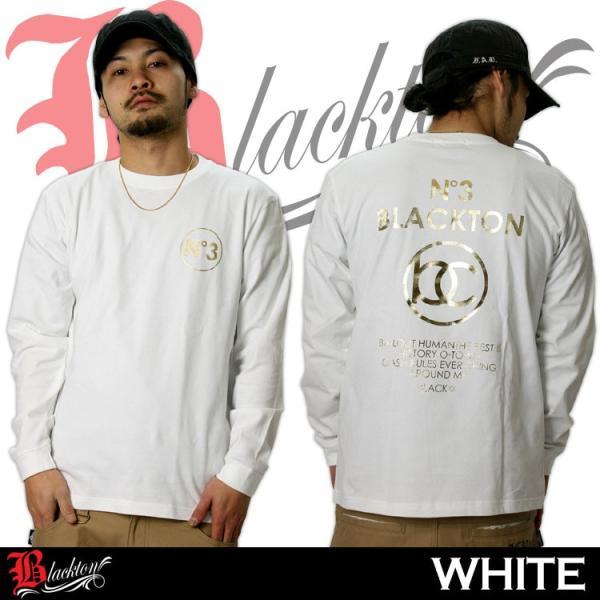 ロンT ストリート ブランド メンズ 長袖 Tシャツ プリント BLACKTON ブラクトン ロゴ 大きいサイズ /3045/|attention-store|05