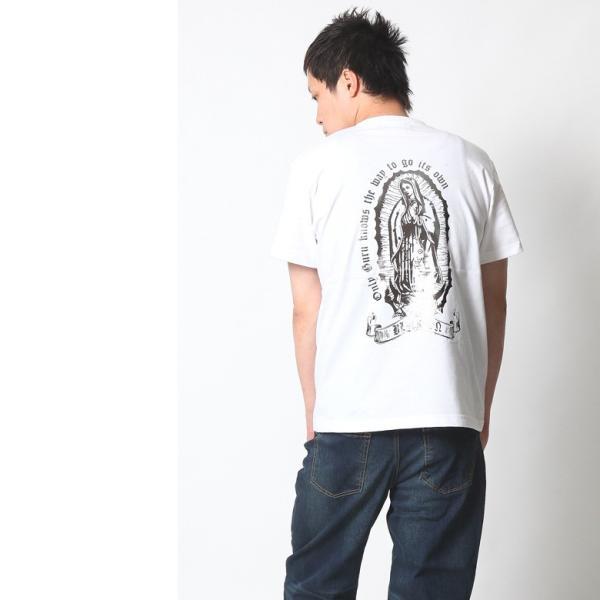 Tシャツ メンズ 半袖 アメカジ ワーク ストリート マリア 黒 白 大きいサイズ M L XL XXL 2L 3L プリント ロゴ カットソー ブランド BLACKTON ブラクトン|attention-store|06