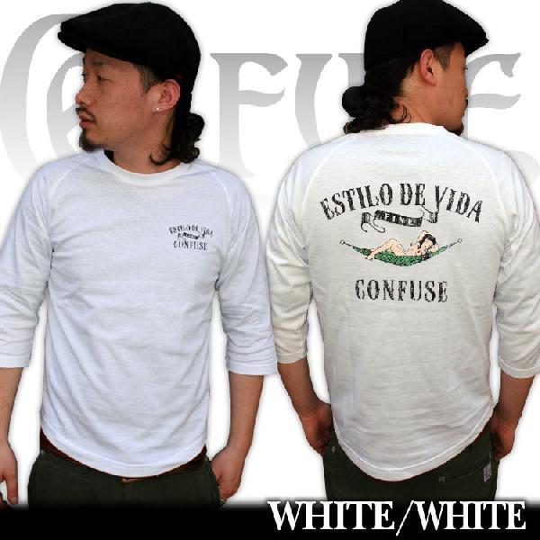 7分丈/7分丈 メンズ/Tシャツ ティーシャツ/メンズ/アメカジ/ストリート/Tシャ ツ/コンフューズ/3045/|attention-store|02