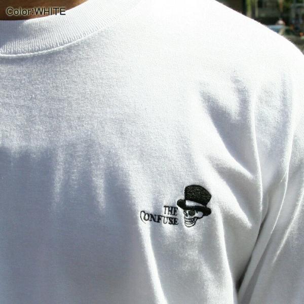 CONFUSE ロンT メンズ 長袖 ブランド コンフューズ 刺繍 ストリート アメカジ スカル 黒 白 大きいサイズ XL XXL ロゴ /3045/|attention-store|12