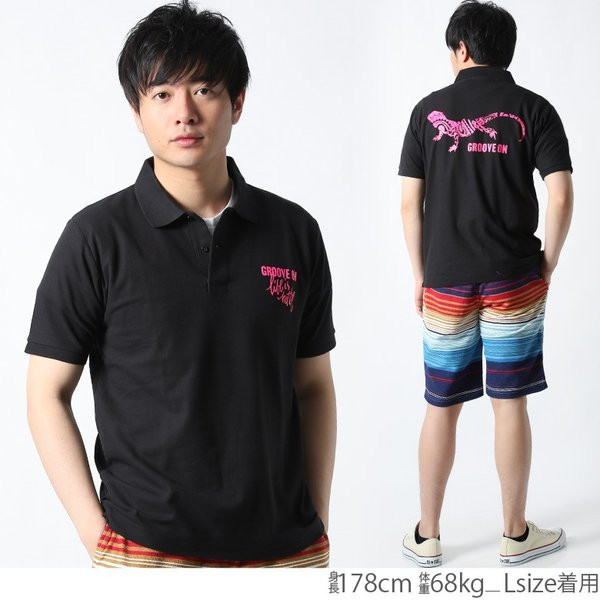 ポロシャツ メンズ 半袖 ポロシャツ カノコ ポロシャツ GROOVEON グルーブオン アメカジ ワーク サーフ ストリート系 ファッション M L XL XXL attention-store 13