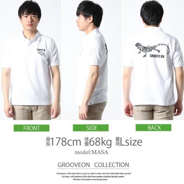 ポロシャツ メンズ 半袖 ポロシャツ カノコ ポロシャツ GROOVEON グルーブオン アメカジ ワーク サーフ ストリート系 ファッション M L XL XXL attention-store 15