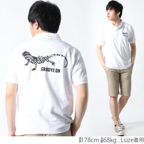 ポロシャツ メンズ 半袖 ポロシャツ カノコ ポロシャツ GROOVEON グルーブオン アメカジ ワーク サーフ ストリート系 ファッション M L XL XXL attention-store 07