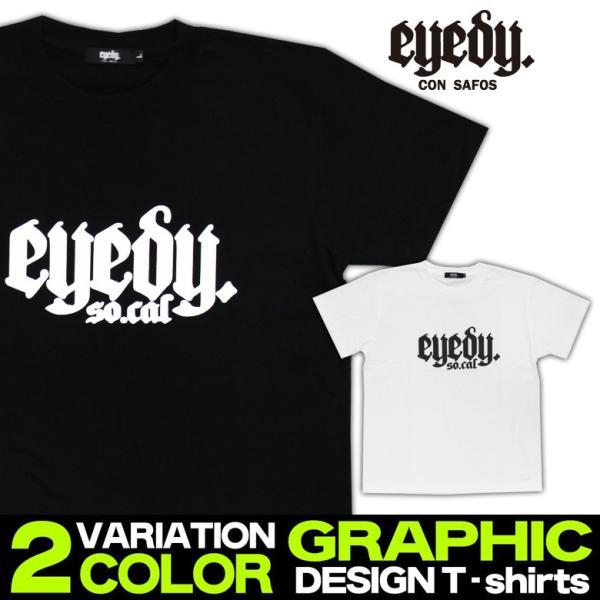 Tシャツ メンズ 半袖 ブランド アイディー EYEDY 西海岸 ストリート ワーク アメカジ 黒 白 大きいサイズ XL XXL プリント ロゴ /3045/|attention-store|02