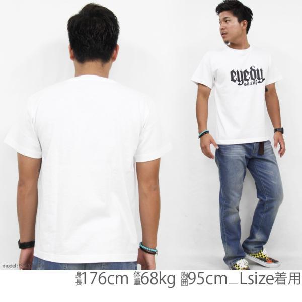 Tシャツ メンズ 半袖 ブランド アイディー EYEDY 西海岸 ストリート ワーク アメカジ 黒 白 大きいサイズ XL XXL プリント ロゴ /3045/|attention-store|04