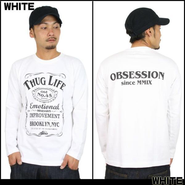ロンT ストリート ブランド メンズ 長袖 Tシャツ プリント OBSESSION オブセッション ロゴ 大きいサイズ /3045/|attention-store|02