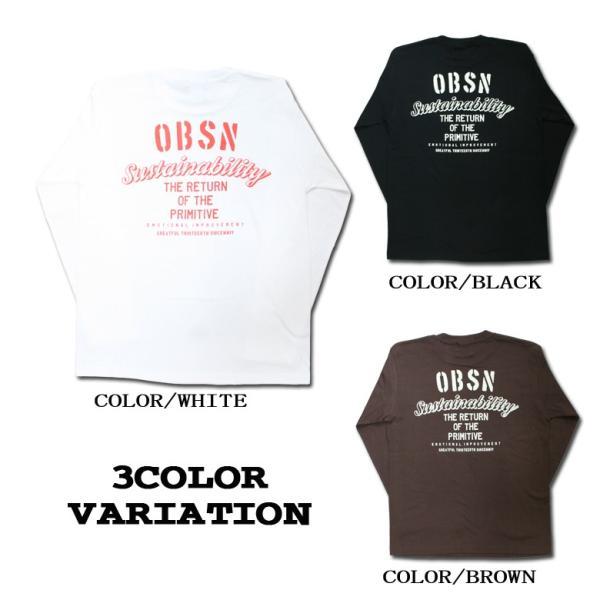 ロンT ストリート ブランド メンズ 長袖 Tシャツ プリント OBSESSION オブセッション ロゴ 大きいサイズ /3045/|attention-store|03