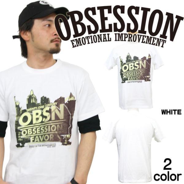 Tシャツ メンズ 半袖 ブランド オブセッション OBSESSION ストリート アメカジ 黒 白 ダンス 大きいサイズ XL XXL プリント ロゴ /3045/|attention-store|02