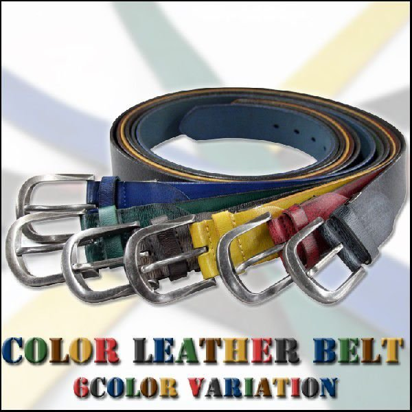 Color Leather Belt / リアルレザーベルト|attention-store