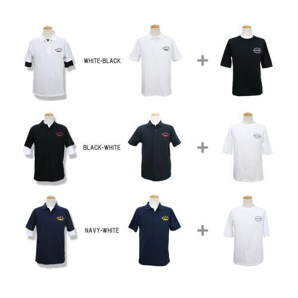REALCONTENTS ポロシャツ メンズ カノコポロ 5分袖 Tシャツ レイヤード 2着セット リアルコンテンツ ストリート系 ファッション M L XL XXL|attention-store|04