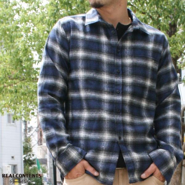 REALCONTENTS シャツ メンズ ネルシャツ チェックシャツ 長袖 カジュアルシャツ アメカジ ワークシャツ リアルコンテンツ 大きいサイズ ストリート M L XL XXL|attention-store|05