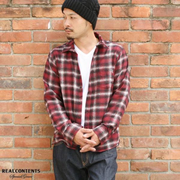 REALCONTENTS シャツ メンズ ネルシャツ チェックシャツ 長袖 カジュアルシャツ アメカジ ワークシャツ リアルコンテンツ 大きいサイズ ストリート M L XL XXL|attention-store|06
