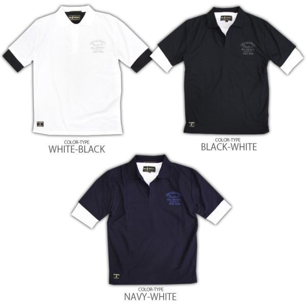 ポロシャツ メンズ カノコポロ 5分袖 Tシャツ リアルレイヤード 2点セット リアルコンテンツ M L XL XXLストリート系 ファッション|attention-store|16
