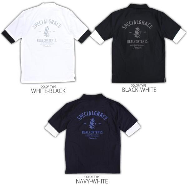 ポロシャツ メンズ カノコポロ 5分袖 Tシャツ リアルレイヤード 2点セット リアルコンテンツ M L XL XXLストリート系 ファッション|attention-store|17