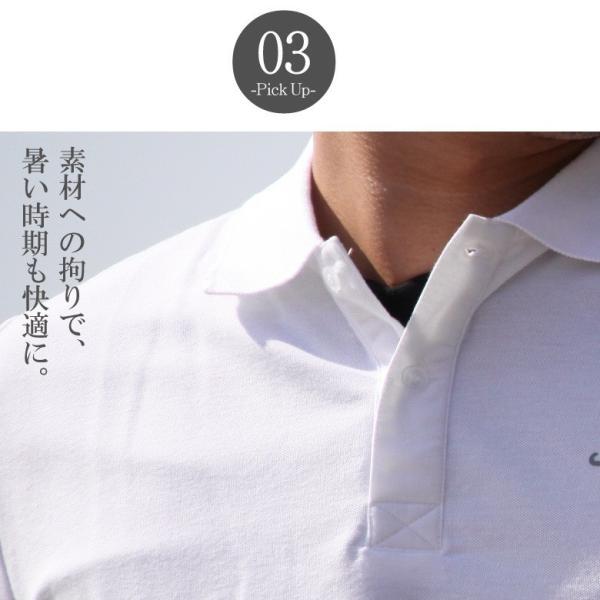 ポロシャツ メンズ カノコポロ 5分袖 Tシャツ リアルレイヤード 2点セット リアルコンテンツ M L XL XXLストリート系 ファッション|attention-store|08