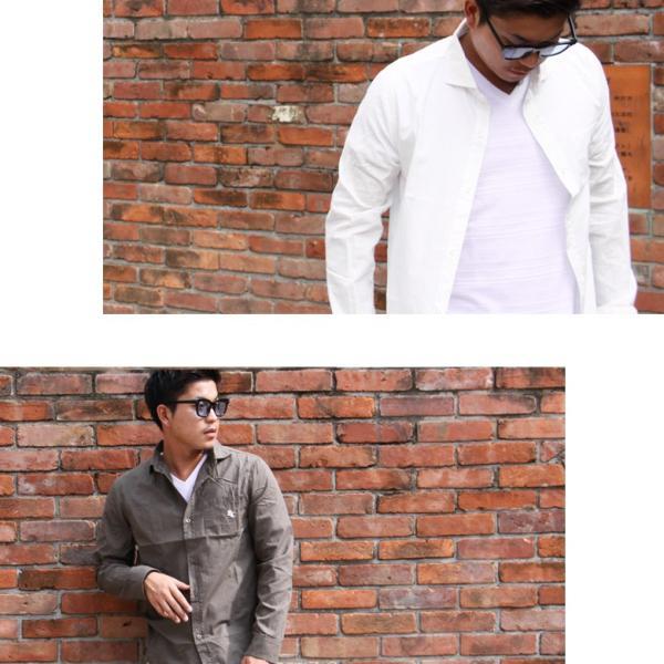 シャツ メンズシャツ イタリアンカラー コットン ブロード 長袖 ワイシャツ 無地 REALCONTENTS リアルコンテンツ 大きいサイズ M L XL XXL|attention-store|06
