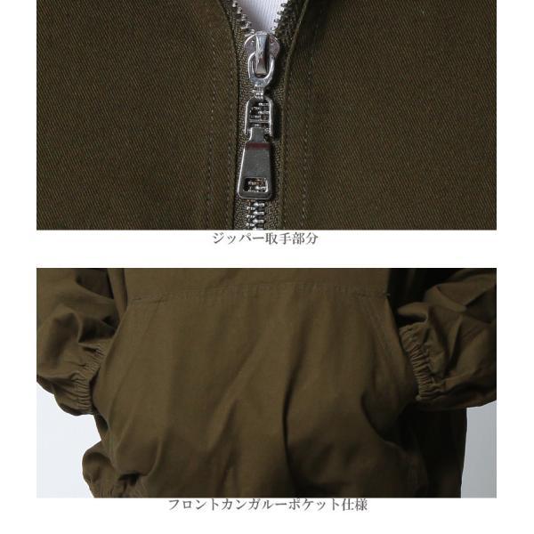 REALCONTENTS アノラックパーカー メンズ ビッグシルエット パーカー プルオーバー ハーフジップ フード アノラック ジャケット キャメル カーキ M L XL|attention-store|10