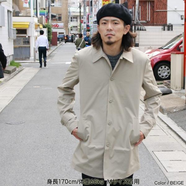 REALCONTENTS メンズ コート ステンカラーコート リアルコンテンツ ジャケット ブラック ネイビー ベージュ M L XL アメカジ ファッション|attention-store|03
