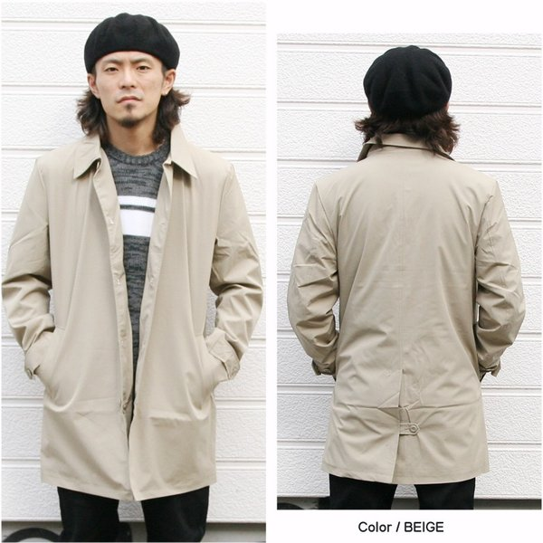 REALCONTENTS メンズ コート ステンカラーコート リアルコンテンツ ジャケット ブラック ネイビー ベージュ M L XL アメカジ ファッション|attention-store|04