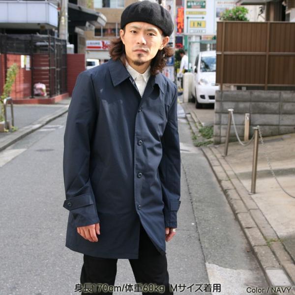REALCONTENTS メンズ コート ステンカラーコート リアルコンテンツ ジャケット ブラック ネイビー ベージュ M L XL アメカジ ファッション|attention-store|05