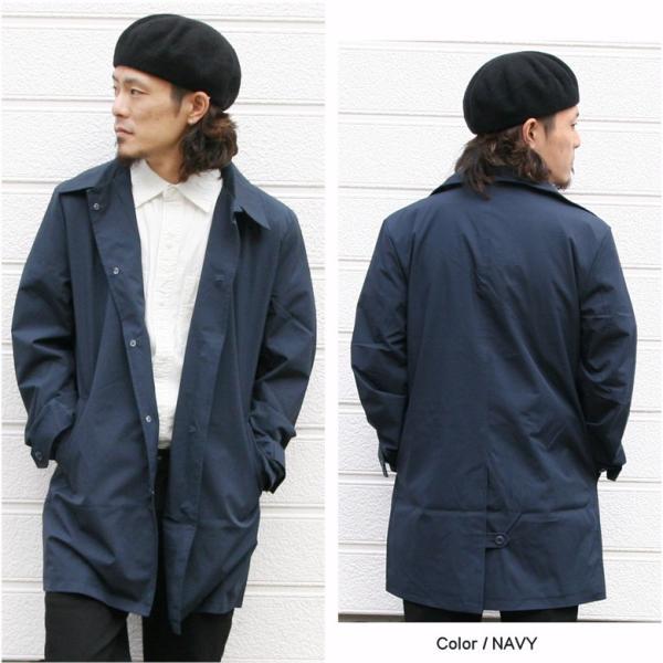 REALCONTENTS メンズ コート ステンカラーコート リアルコンテンツ ジャケット ブラック ネイビー ベージュ M L XL アメカジ ファッション|attention-store|06