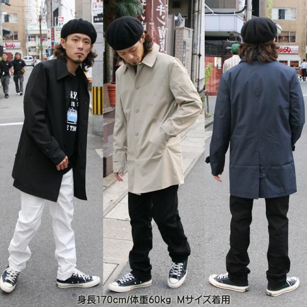REALCONTENTS メンズ コート ステンカラーコート リアルコンテンツ ジャケット ブラック ネイビー ベージュ M L XL アメカジ ファッション|attention-store|09
