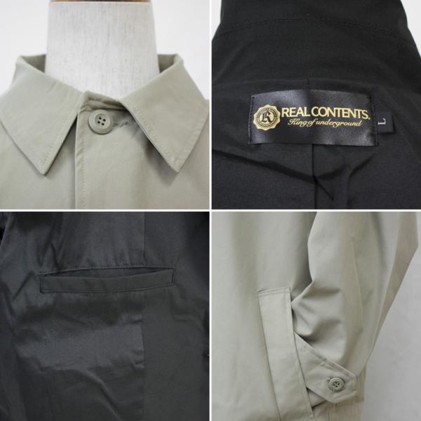 REALCONTENTS メンズ コート ステンカラーコート リアルコンテンツ ジャケット ブラック ネイビー ベージュ M L XL アメカジ ファッション|attention-store|10