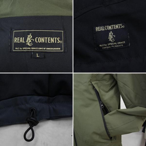 REALCONTENTS マウンテンパーカー メンズ ジャケット マンパ ライトアウター フード 止水ジップ リアルコンテンツ ストリート 黒 ブラック M L XL XXL attention-store 11
