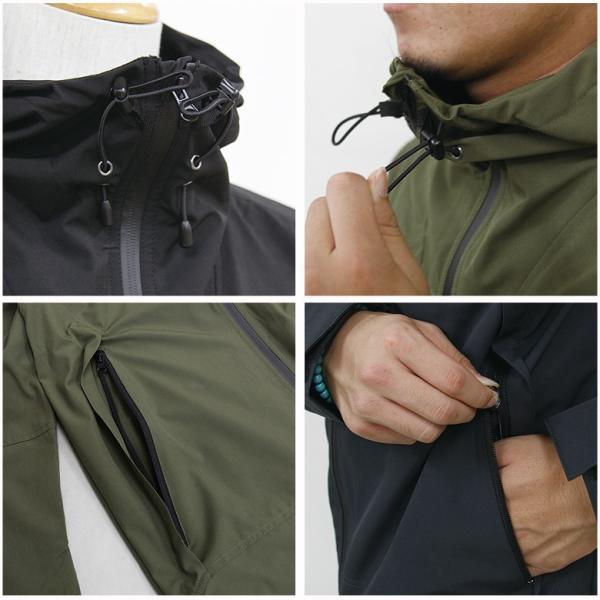 REALCONTENTS マウンテンパーカー メンズ ジャケット マンパ ライトアウター フード 止水ジップ リアルコンテンツ ストリート 黒 ブラック M L XL XXL attention-store 12