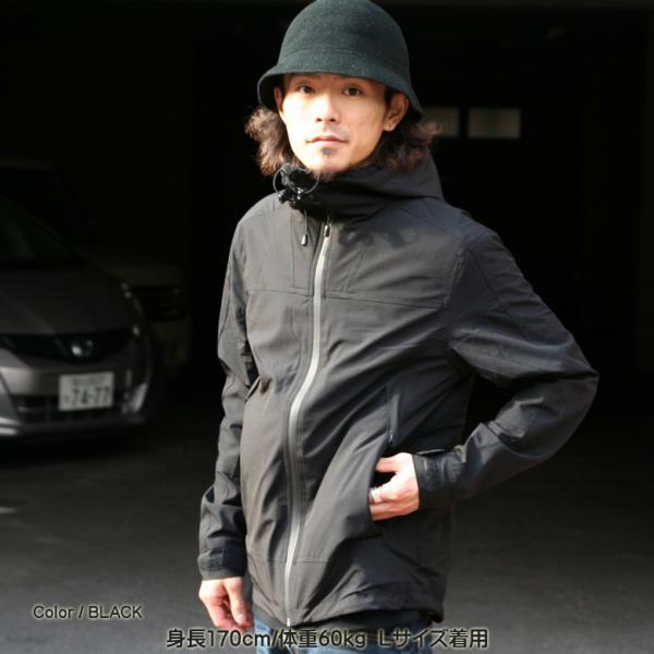 REALCONTENTS マウンテンパーカー メンズ ジャケット マンパ ライトアウター フード 止水ジップ リアルコンテンツ ストリート 黒 ブラック M L XL XXL attention-store 03