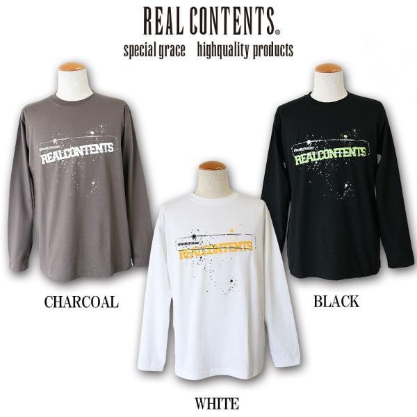 ロンT ストリート ブランド メンズ 長袖 Tシャツ プリント REALCONTENTS リアルコンテンツ ロゴ 大きいサイズ /3045/|attention-store|02