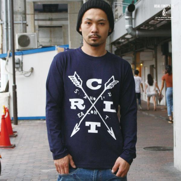 ロンT ストリート ブランド メンズ 長袖 Tシャツ プリント REALCONTENTS リアルコンテンツ ロゴ 大きいサイズ /3045/|attention-store|05