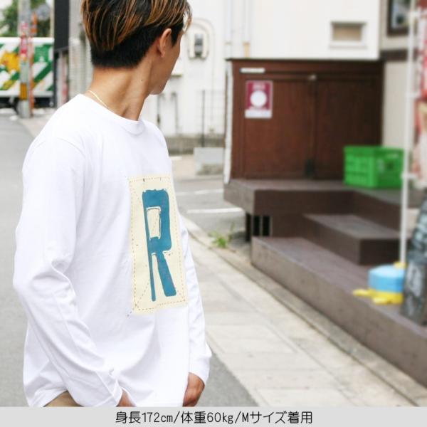 ロンT メンズ 長袖 Tシャツ ロングTシャツ リアルコンテンツ M L XL XXL 2XL 3L 大きいサイズ B系 ブランド 人気 アメカジ ストリート系 ファッション /3045/ attention-store 09