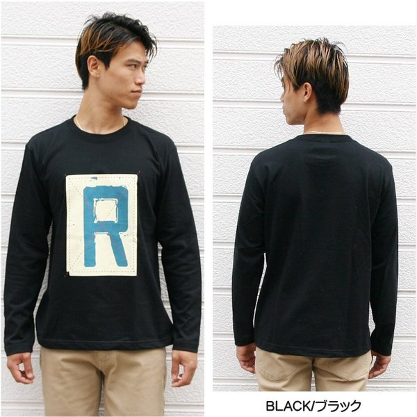 ロンT メンズ 長袖 Tシャツ ロングTシャツ リアルコンテンツ M L XL XXL 2XL 3L 大きいサイズ B系 ブランド 人気 アメカジ ストリート系 ファッション /3045/ attention-store 10