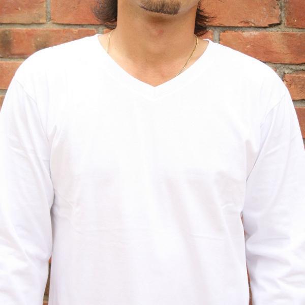 Vネック ロンT インナー メンズ 無地 長袖 ロングTシャツ リアルコンテンツ REALCONTENTS アメカジ ストリート系 ファッション M L XL XXL|attention-store|06