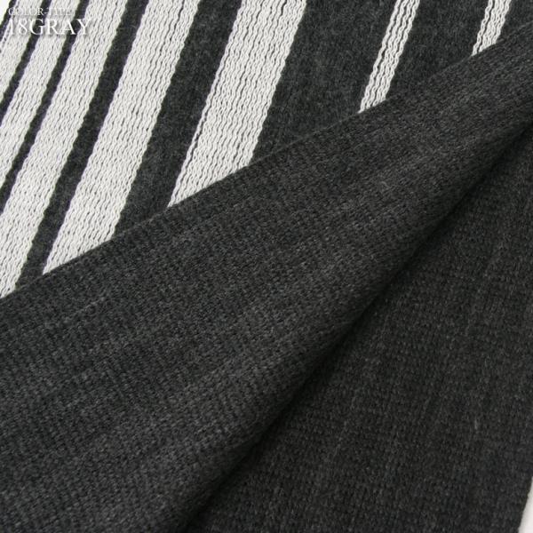 REALCONTENTS マフラー 日本製 リバーシブル メンズ レディース ユニセックス ストライプ ロング アメカジ リアルコンテンツ グレー ブラック ネイビー|attention-store|05