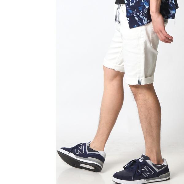 ホワイト メンズ ホワイトデニム ショートパンツ ハーフパンツ 白 ホワイト ショーツ ストレッチ アメカジ リアルコンテンツ ストリート系 ファッション|attention-store|08