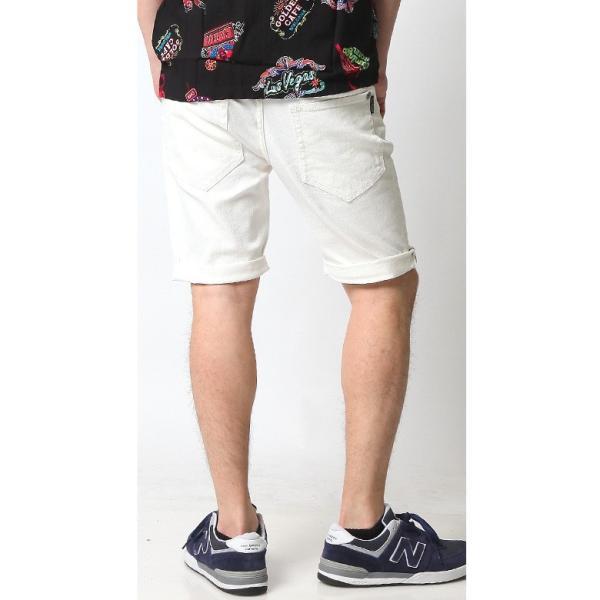 ホワイト メンズ ホワイトデニム ショートパンツ ハーフパンツ 白 ホワイト ショーツ ストレッチ アメカジ リアルコンテンツ ストリート系 ファッション|attention-store|10
