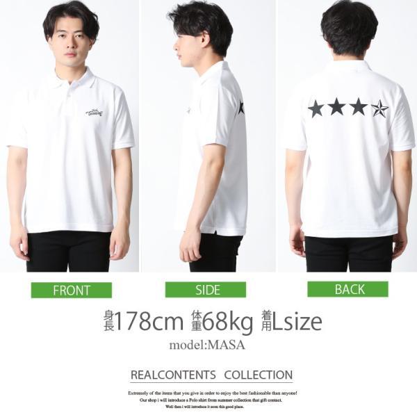 ポロシャツ メンズ 半袖 ポロシャツ カノコ ポロシャツ 星 スター star REALCONTENTS リアルコンテンツ アメカジ ワーク ストリート系 ファッション M L XL XXL|attention-store|11