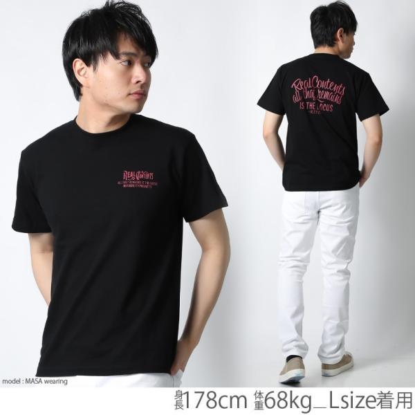 Tシャツ メンズ 半袖 ブランド リアルコンテンツ REALCONTENTS ストリート 黒 白 ダンス 大きいサイズ XL XXL プリント ロゴ おしゃれ /3045/ attention-store 10