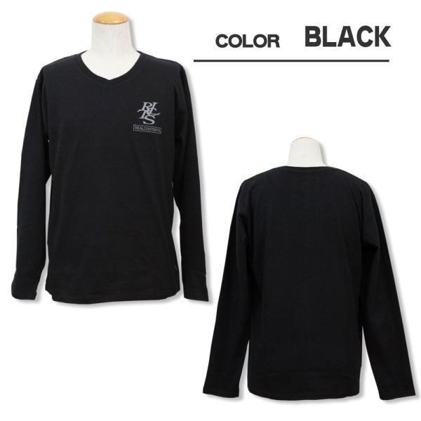 ロンT メンズ 長袖 Tシャツ ロングTシャツ リアルコンテンツ M L XL XXL 2XL 3L REALCONTENTS ストリート系 ファッション /3045/|attention-store|04