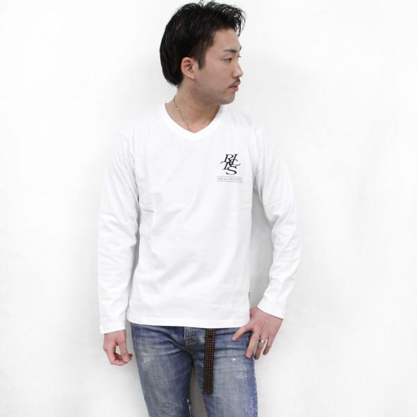 ロンT メンズ 長袖 Tシャツ ロングTシャツ リアルコンテンツ M L XL XXL 2XL 3L REALCONTENTS ストリート系 ファッション /3045/|attention-store|05
