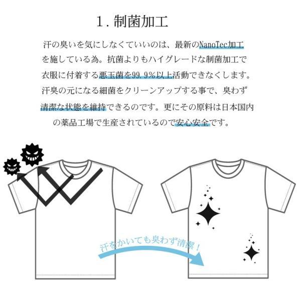 Tシャツ メンズ 半袖 パイル生地 ナノテック NANOTEC アメカジ ストリート 黒 白 ピンク イエロー ネイビー M L XL LL 2L プリント ロゴ カットソー タオル生地|attention-store|03