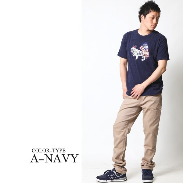 Tシャツ メンズ 半袖 パイル生地 ナノテック NANOTEC アメカジ ストリート 黒 白 ピンク イエロー ネイビー M L XL LL 2L プリント ロゴ カットソー タオル生地|attention-store|06