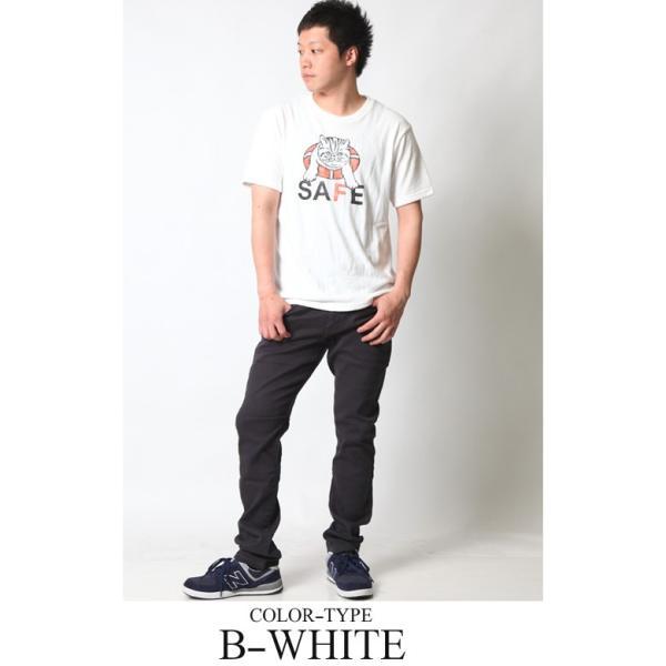 Tシャツ メンズ 半袖 パイル生地 ナノテック NANOTEC アメカジ ストリート 黒 白 ピンク イエロー ネイビー M L XL LL 2L プリント ロゴ カットソー タオル生地|attention-store|08
