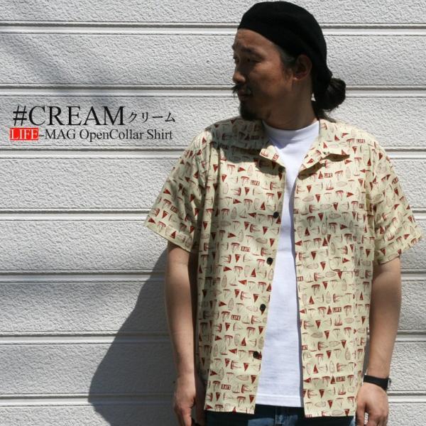 シャツ 半袖 日本製 国産 総柄 LIFEMAG メンズ カジュアルシャツ ワークシャツ アロハシャツ 開襟 オープンカラー M L LL XL 2L 柄シャツ|attention-store|11