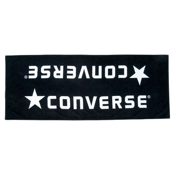 [CONVERSE]コンバースジャガードベンチタオル(袋入り)(CB142901)(1911)ブラック/ホワイト[取寄商品]